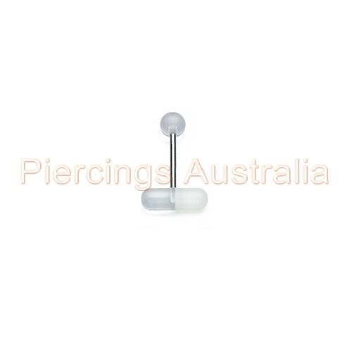 UV Pill Tongue Bar Ring Stud Barbell Body Piercing Jewellery CHOOSE LENGTH