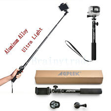 Extendable Selfie Stick Monopod with Bluetooth Remote Shutter For Phone Gopro