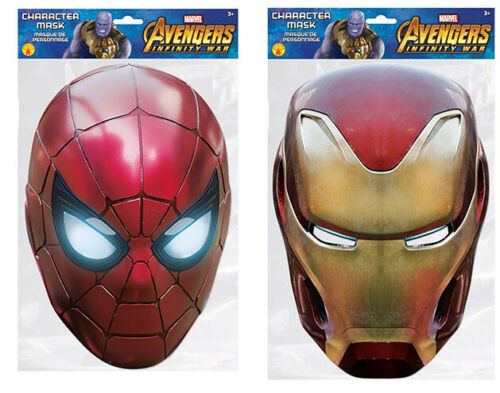 Iron Man and Iron Spider Marvel Avengers Official Face Masks