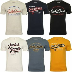 Jack-amp-Jones-Mens-039-JJE-Logo-Tee-039-T-Shirt