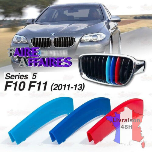 3 Clip bandes Grille Calandre BMW M Motorsport Performance F10 F11 525D 530D