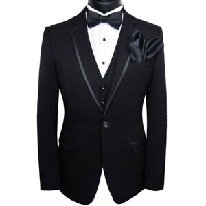 Men White Designer Stylish Tuxedo Wedding Party Dinner Suit Coat+Pant+Vest