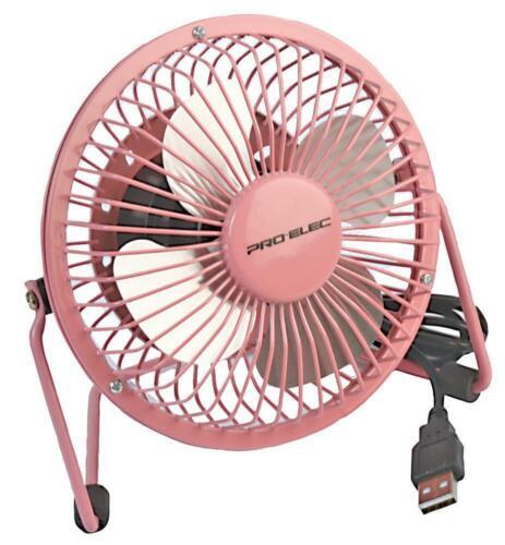 """Rose 4/"""" USB Mini Ventilateur de bureau Pro Elec 155x85x160mm"""