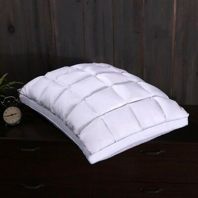 Pleated Goose Down Pillow 600tc French Bread Firm Neck