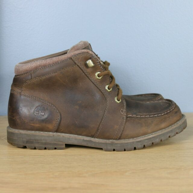 Timberland Casual Chukka Men's Brown Leather Lace Up Boots Size 8.5 (90567)