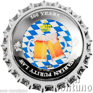 2016-Palau-BOTTLE-CAP-COIN-500-Years-Bavarian-Purity-Law-2-5g-999-Silver-1
