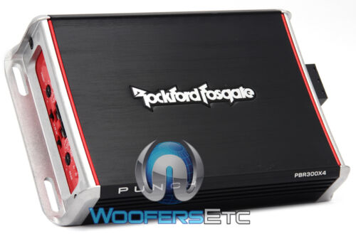 PBR300X4 ROCKFORD FOSGATE PUNCH 4-CH AMP 600W MAX SPEAKERS TWEETERS AMPLIFIER
