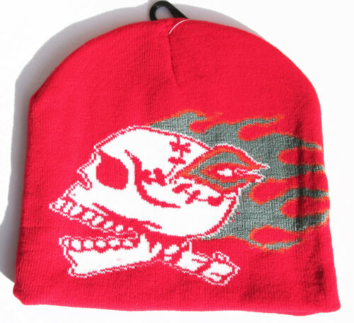 Flaming Skull Beanies 4 Colors NEW