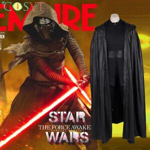 Star Wars The Rise Of Skywalker Kylo Ren Cosplay Costume Hooded Full Set Lot Ebay