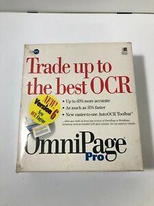 VINTAGE OmniPage 6.0 Pro Windows Upgrade OCR Scanner Software 1995