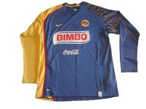 outlet store ed806 b3b23 Details about NIKE 244827-430 CLUB AMERICA 2008 AWAY SOCCER JERSEY LONG  SLEEVE