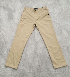 Nike-SB-Mens-Flex-Flat-Front-Chino-Pants-Men-039-s-32-x-30-Cotton-Tan-Skateboard-M31