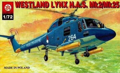 WESTLAND LYNX HAS MK.2//MK.23 DUTCH /& ROYAL NAVY MKGS 1//72 PLASTYK