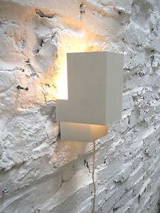 MINIMAL GEOMETRIC CUBIC METAL APPLIQUE WALL LAMP HOLLAND ANVIA HOOGERVORST 60s