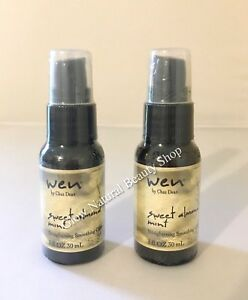 Wen-Straightening-Smoothing-Gloss-Sweet-Almond-Mint-Hair-Serum-1-oz-30-ml-Duo