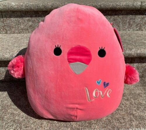 "Squishmallow Kellytoy 16/"" Cookie Flamingo Valentine Super Soft Squishy Plush Toy"