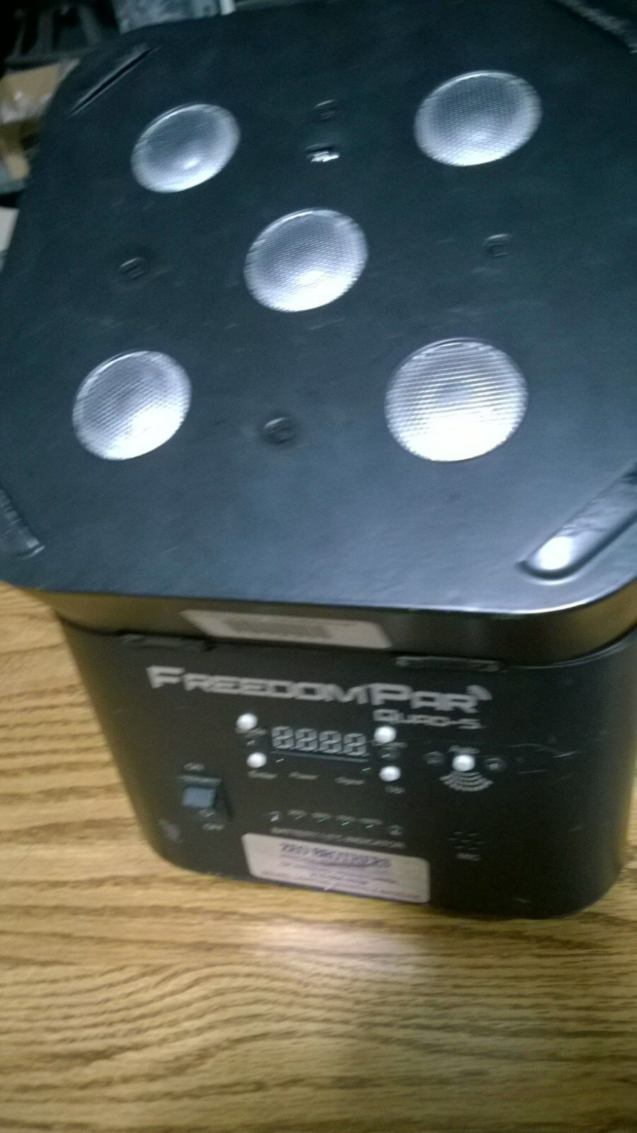 Chauvet Freedom Par Quad 5 Battery Powered LED Lighting Fixtures Used