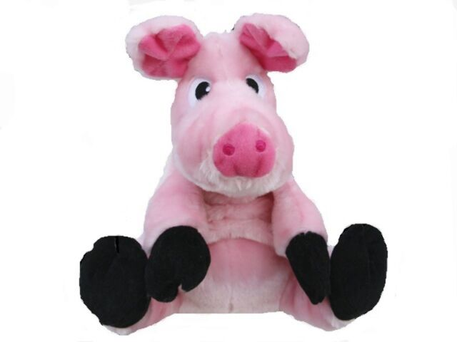 Patrick the Pink Pig Dog Toy - 28cm Plush Pink Pig Toy for Small Dogs