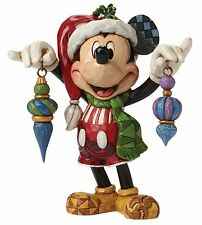 Disney Traditions Deck The Halls Mickey Mouse Christmas Figurine 14cm 4046064