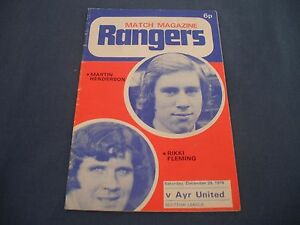 RANGERS-v-AYR-UNITED-FOOTBALL-PROGRAM-DECEMBER-28-1974