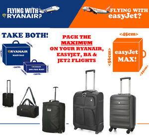 ryanair easyjet british airways ba max main cabine bagages valise 55x40x20 ebay. Black Bedroom Furniture Sets. Home Design Ideas