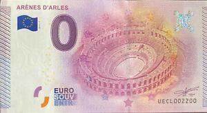 BILLET-0-EURO-ARENES-D-039-ARLES-FRANCE-2015-NUMERO-2200