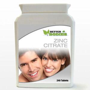 Citrato-DI-ZINCO-uno-al-giorno-aiuta-con-acne-la-fertilita-guarigione-240-compresse-bottiglia