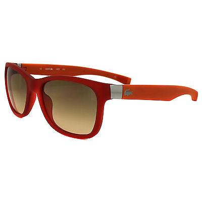Lacoste Sunglasses L662S 615 Matte Red Orange Brown Gradient