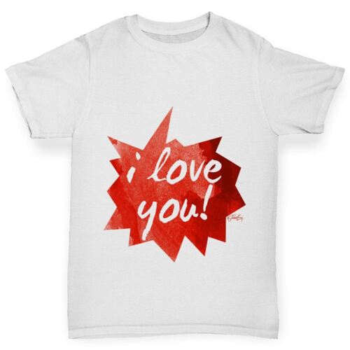 Twisted Envy I Love You pointus discours bulle Fille Drôle T-Shirt