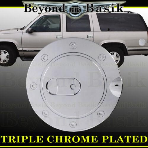 88-00 CHEVY GMC C K 1500 2500 SUBURBAN Triple ABS Chrome Fuel Gas Door Cover Cap