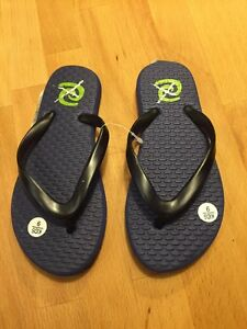 7b8142678e3987 Image is loading TEVA-Rafters-Waikiki-Flip-Flops-Youth-9-New