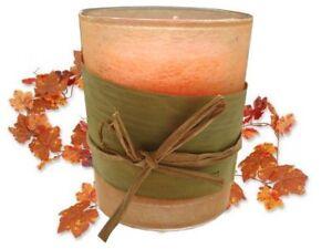 Kerzenhalter-Kerzenglas-Natur-m-2-Kerzen-Herbstdeko-orange