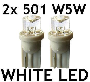 2x 501 T10 W5W LED WHITE XENON Look  sidelight bulbs UK