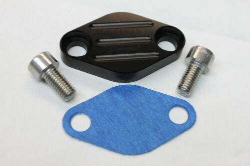 Camaro//Firebird LS1 Billet Aluminum Black EGR Manifold Block Off Plate