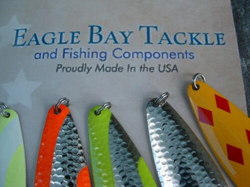 8 Eagle Bay Casting Trolling Fishing Lure 3//8 oz Pike Bass Trout Salmon USA MADE