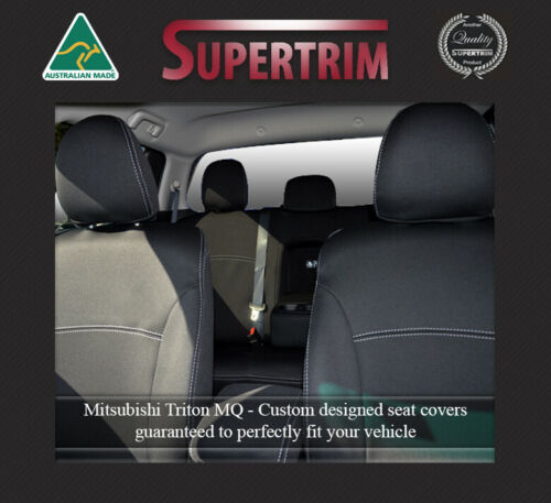 Neoprene waterproof front seat console lid covers fit Mitsubishi Triton