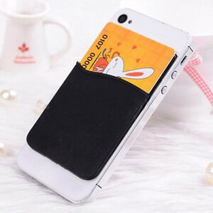 Durable-Adhesive-Sticker-Back-Cover-Card-Holder-Case-Pouch-For-iPhone-Cell-Phone