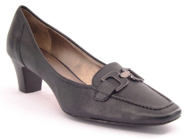 New CIRCA JOAN & DAVID Comfort Donna Blk Pelle Loafer Dress Pump Shoe Sz 10 M