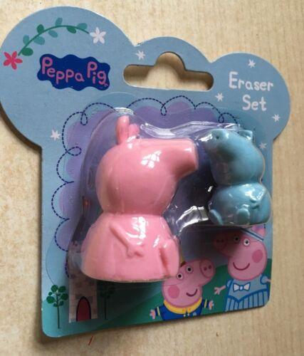 BNIP New Peppa Pig 3D Eraser Set Peppa /& George Erasers