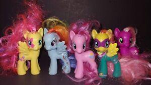 "5 G4 My Little Pony MLP Brushable 3"" Inch Horse Bundle Lot 2011 2010 Ponies H"