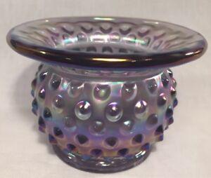 Fenton-Art-Glass-Light-Purple-Carnival-Hobnail-Cuspidor-HOACGA-LIMITED