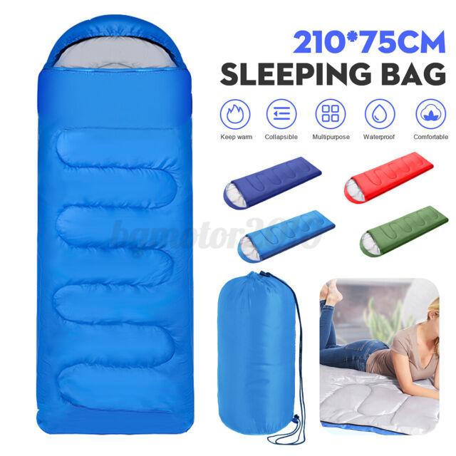 Ultralight Adult Single Sleeping Bag Camping Hiking w// Carrying Bag FREE SHIP