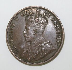 1911-CANADA-ONE-CENT-SUPERB-HIGH-GRADE-8-PEARLS-amp-FULL-CENTRE-CROWN