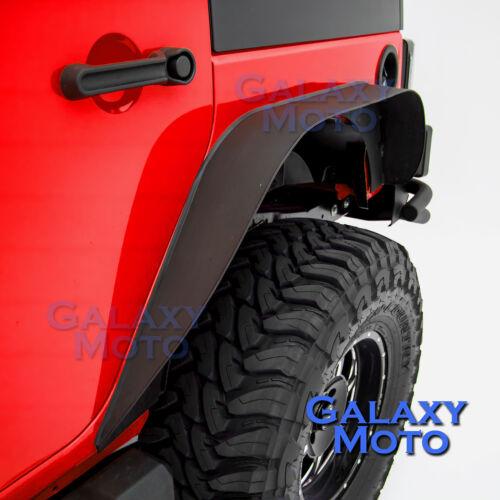 Stubby Rock Crawler Front+Rear Metal Fender Flares fit 07-18 Jeep JK Wrangler