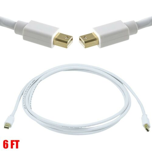 6FT Mini DisplayPort 1.1 Cable MDP Male to Male Mac Monitor 32AWG Gold Plated