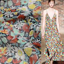 "Sea of flower 100% pure silk Silk Georgette silk fabric 55"" width by yard,SCG066"