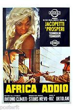 manifesto 2F originale AFRICA ADDIO documentario di Jacopetti e Prosperi 1966
