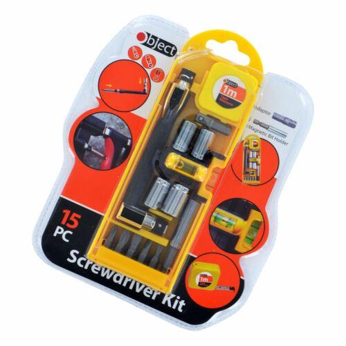 15pc précision outil de sécurité Star HEX titulaire réparation tournevis kit outil bits set