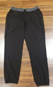 RBX-Active-Black-Track-Gym-Athletic-Pants-Drawstring-Womens-Size-Large