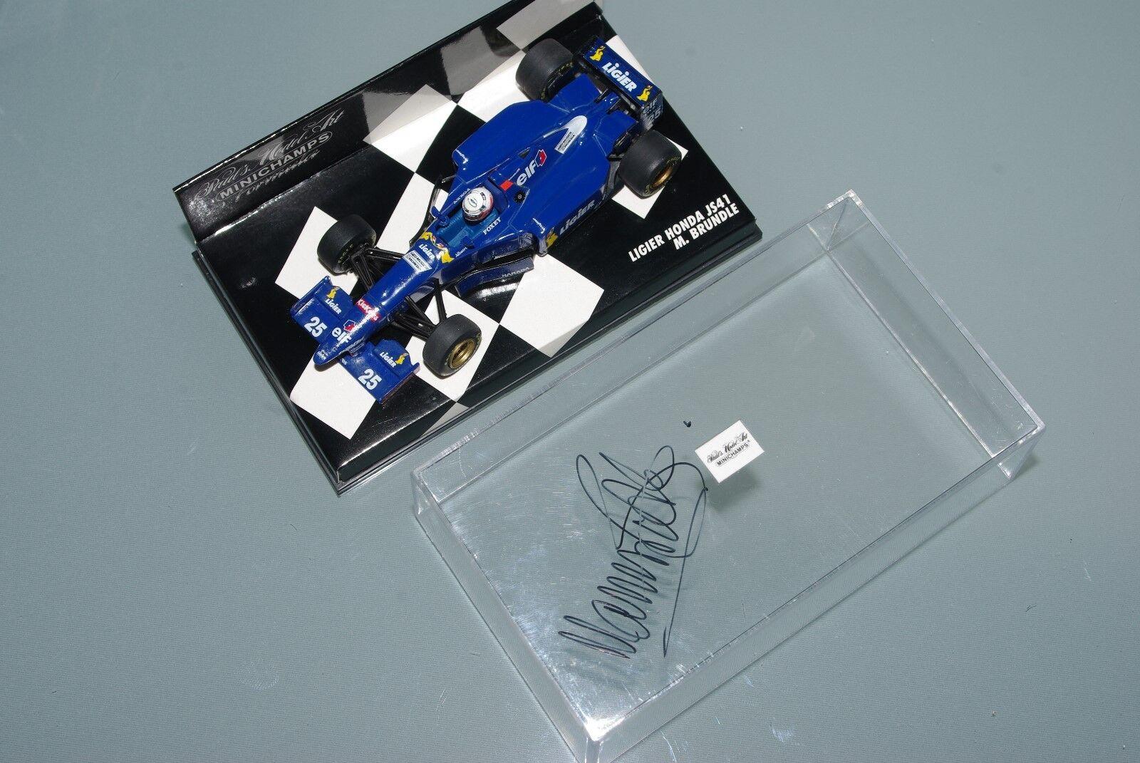 Minichamps F1 1 43 LIGIER HONDA JS41 - MARTIN BRUNDLE  SIGNED AUTOGRAPH
